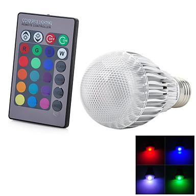 1 buc 3 W 300-500 lm E26 / E27 Bulbi LED Inteligenți 1 LED-uri de margele LED Integrat Telecomandă Decorativ culoare Gradient RGB 85-265 V / RoHs