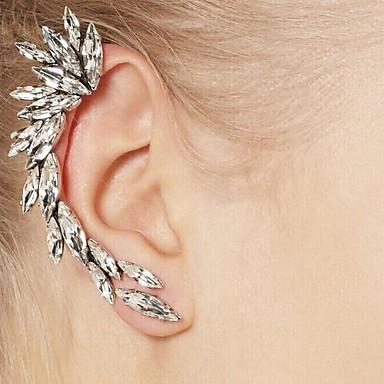 povoljno Naušnice-Žene Uho Manžete Naušnice Helix dame Europska Simple Style Moda Smola Umjetno drago kamenje Naušnice Jewelry Srebro Za Dnevno