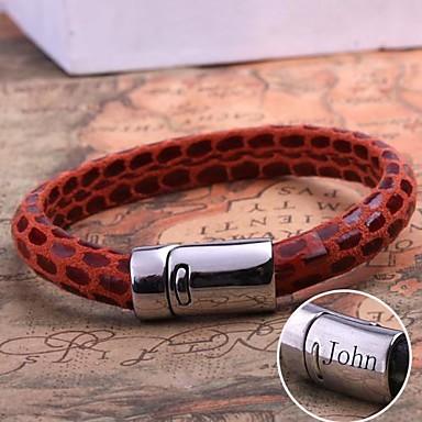 5f6d91d6e429 joyería de cuero regalo personalizado de acero inoxidable pulsera de cuerda  grabado 2542950 2019 – €10.99