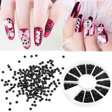 1200 Pcs Încântător Plastic Nail Art Kit Perlă Pentru deget nail art pedichiura si manichiura