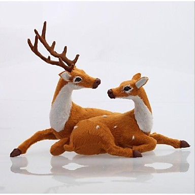 ieftine Cadouri-Decoratiuni de Craciun adorabil ornamente o pereche de cerb