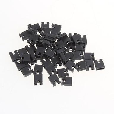 economico Componenti fai da te (DIY)-passo da 2,54 mm ponticello corto tappo blocco pin tappo cortocircuito (50pcs)