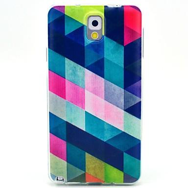 voordelige Galaxy Note-serie hoesjes / covers-hoesje Voor Samsung Galaxy Note 3 Patroon Achterkant Geometrisch patroon TPU