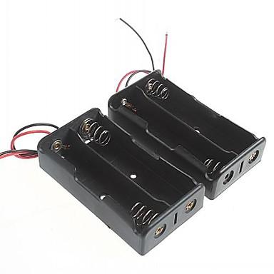 olcso Aljzatok és konnektorok-akkumulátor doboz 18650 elem (2db)