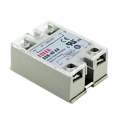 povoljno Releji-fotek solid state relay SSR-40aa AC-AC 40a 80-250v / 24-380v s poklopcem