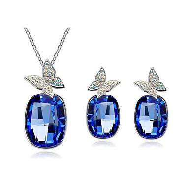 μεγάλο τρυπάνι πεταλούδα κολιέ κρεμαστό κόσμημα  σετ σκουλαρίκια κοσμήματα  (μπλε 8ca7be0c1c3