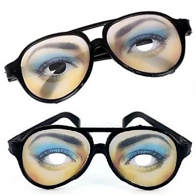 olcso Vicces kütyük-1 pár női szemmel print tréfa vicces szemüveg halloween jelmezes buli (15.5x6cm)