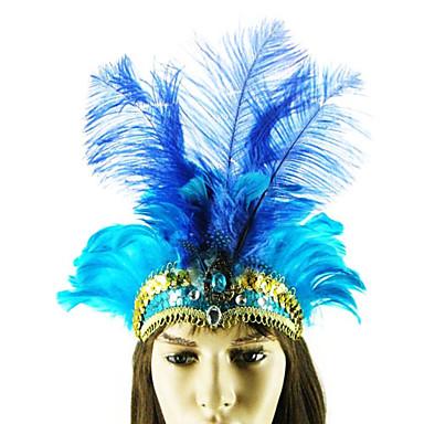 dança do ventre azul da pena da avestruz estilo indiano carnaval