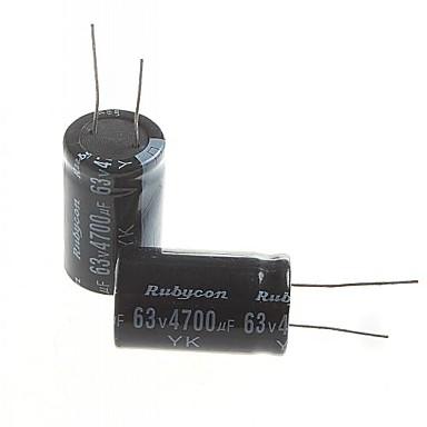 economico Condensatori-condensatore elettrolitico 4700uF 63V (2 pezzi)