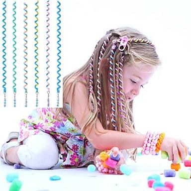 مجعد حبل الشعر 6PCS 24CM الأطفال الأزرق ل