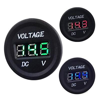 olcso Motorkerékpár és ATV-Autós motorkerékpár DC 12V 24V digitális LED voltmérő