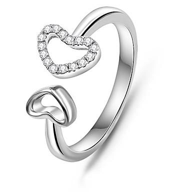 ρομαντικό δαχτυλίδι 925 ασημένια διπλή κούφια καρδιά ένθετο κορυφή ζιργκόν  λευκό επίχρυσο δαχτυλίδι δαχτυλίδι ζευγάρια (1 τεμ) 2663377 2019 – €21.99 85f941dc5a1