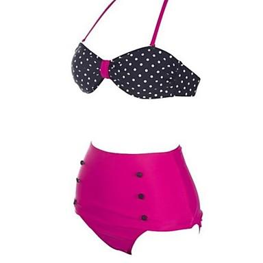dammode sexiga tvåfärgade dot hög midja bikini satt badkläder baddräkt  badkläder 2663659 2019 – €26.39 d28f66832b33b