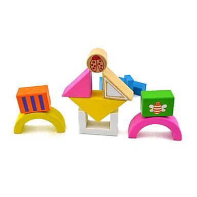 olcso Építőjátékok és építőkockák-tár darabokat tégla 15 gyermek fa építőelemeket játék