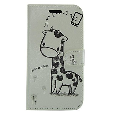 povoljno Maske za mobitele-crtani žirafa PU Koža cijelog tijela novčanik zaštitna slučaj s postoljem za Samsung Galaxy i8552 pobijediti
