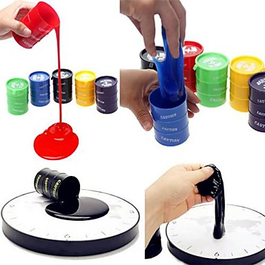 olcso Vicces kütyük-1db mini emulational újrahasznosítható festékes vödör pot stresszoldó tréfa kütyü (véletlenszerű szín)