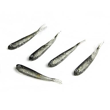 5 pcs Δόλωμα Momeală moale Bass Păstrăv Ştiucă Pescuit mare Aruncare Momeală pescuit de Crap Silicon / Pescuit în General / Pescuit cu undițe tractate & Pescuit din barcă