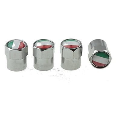 olcso Dekorációk-módosított autó gumiabroncs nemzeti zászló réz szelepek díszítő sapka szelep sapka gömb alakú szelepfedél 4 db / csomag (olaszország)