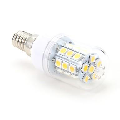 3 W Becuri LED Corn 200 lm E14 T 27 LED-uri de margele SMD 5050 Alb Cald 220-240 V / #