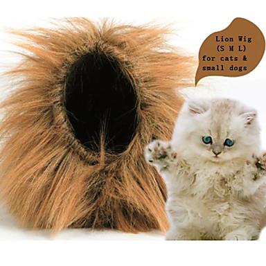 رخيصةأون ملابس وإكسسوارات الكلاب-قط كلب ازياء تنكرية قلادة اكسسوارات الشعر أسد ملابس الكلاب كوستيوم طفل كلب صغير نايلون الكوسبلاي S M L