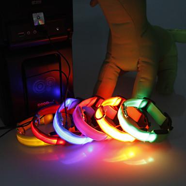 povoljno Ogrlice, pojasevi i uzice za psa-Ovratnik - za Psi / Mačke - LED svjetla - ( Obala / Zelen / Plav / Narančasta , Najlon )