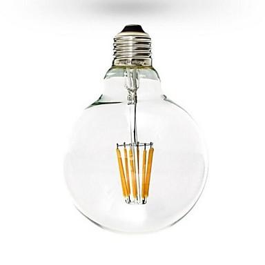 1db 6 W Izzószálas LED lámpák 600 lm E26 / E27 G125 6 LED gyöngyök COB Tompítható Meleg fehér 220-240 V 110-130 V / RoHs