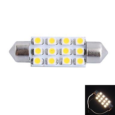 ieftine Becuri De Mașină LED-gc® 39mm 3w 150lm 3000K 12x3528smd alb cald eșuat pentru citire auto / de înmatriculare / lumină ușă lampă (DC12V)