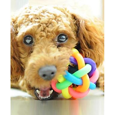 baratos Brinquedos para Cães-Bola Brinquedo interativo Brinquedo Para Cachorro Animais de Estimação Brinquedos rangido Borracha Dom
