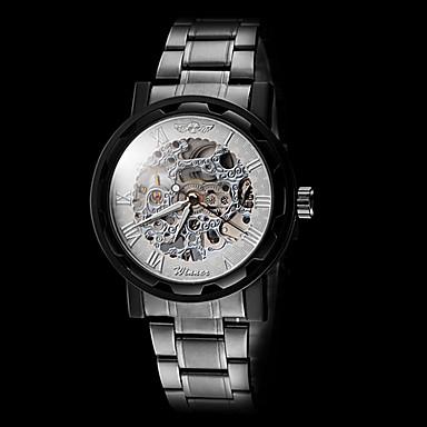 WINNER Férfi Szkeleton óra   mechanikus Watch Üreges gravírozás Rozsdamentes  acél Zenekar Fekete 2709028 2019 – €16.99 c8abb02e45