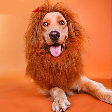 رخيصةأون ملابس وإكسسوارات الكلاب-قط كلب قلادة اكسسوارات الشعر أسد ملابس الكلاب كوستيوم طفل كلب صغير نايلون الكوسبلاي