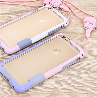 voordelige iPhone 6 Plus hoesjes-hoesje Voor Apple iPhone 6s Plus / iPhone 6s / iPhone 6 Plus Bumper Effen Zacht TPU
