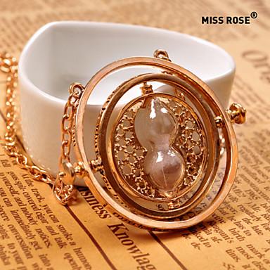 نسائي قلائد الحلي الساعة الرملية سيدات سبيكة ذهبي قلادة مجوهرات من أجل مناسب للبس اليومي