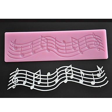 رخيصةأون أدوات الفرن-رمز الموسيقى سيليكون قالب الكعكة فندان المطبخ خبز