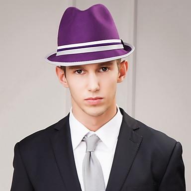 olcso Hajékszerek-férfi párt / esti kauzális vőlegény / groomsman gyapjú headpiece-casual kalapok