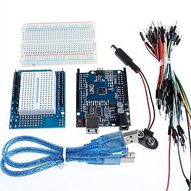 olcso Tartozékok-uno + prototípus bővítőkártya és breadboard az Arduino
