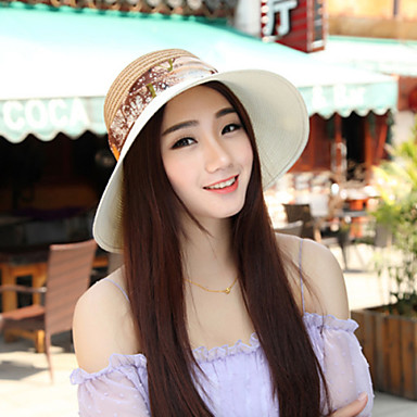 cheap Hair Jewelry-Women's Casual Leisure Summer Straw Straw Hat