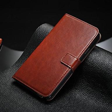 Недорогие Чехлы и кейсы для Galaxy Note 4-Кейс для Назначение SSamsung Galaxy Note 5 / Note 4 / Note 3 Бумажник для карт / со стендом / Флип Чехол Однотонный Кожа PU