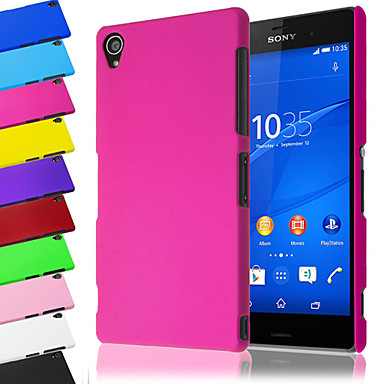 cheap Sony Case-Case For Sony Xperia Z3 / Sony Sony Xperia Z3 / Sony Frosted Back Cover Solid Colored Hard PC