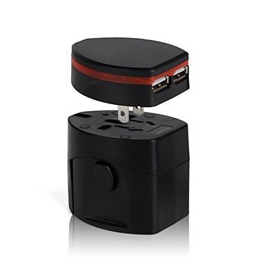 olcso Tápegységek & tápkábelek-univerzális úti dugót konnektorba csatlakozó adapter átalakító velünk uk au-Európában kettős USB töltő port