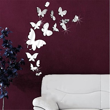 animals 3d wall stickers mirror wall stickers decorative wall