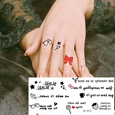 3 59 1 Pc Little Girl Cute Little Toy Plaything Tattoo Stickers Temporary Tattoos