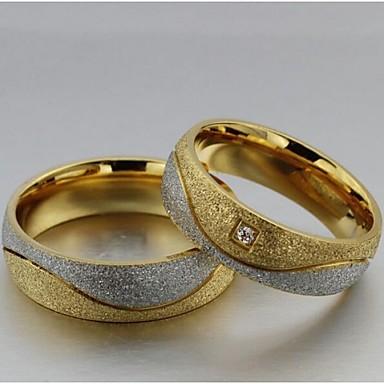 Women S Couple Rings Statement Ring Groove Rings Synthetic Diamond 2pcs Gold White Titanium Steel Imitation Diamond Circle Ladies Wedding Party Jewelry Love 2856462 2020 13 64