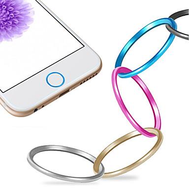 olcso Mobiltelefon amulettek-kiváló minőségű fém home gomb burkolat gyűrű védő kört iphone 06/06 plus / 5mp / iPad levegő 2 / iPad mini