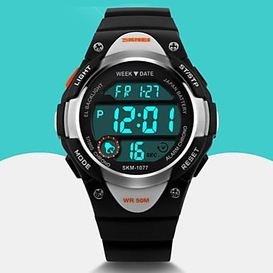 رخيصةأون ساعات النساء-SKMEI رجالي ساعة رياضية ساعة المعصم ساعة رقمية كوارتز رقمي مطاط أسود / أزرق / الوردي المنبه رزنامه كوول رقمي موضة - أسود أزرق زهري سنتان عمر البطارية / Maxell626 + 2025