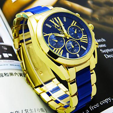 رخيصةأون ساعات الرجال-رجالي ساعة المعصم مراقبة الطيران كوارتز الأبيض / أزرق / الوردي مماثل البيج أزرق زهري سنتان عمر البطارية