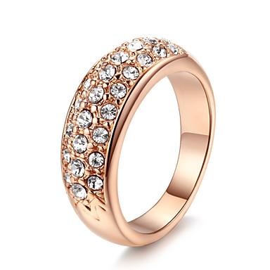 ieftine Inele-Band Ring Cristal Auriu Argintiu Placat Auriu Aliaj femei Lux stil minimalist / Pentru femei
