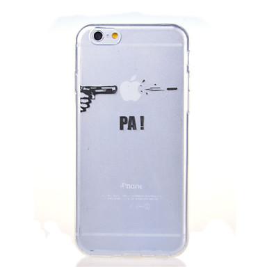 Недорогие Кейсы для iPhone 6 Plus-Кейс для Назначение Apple iPhone 8 Pluss / iPhone 8 / iPhone 7 Plus Ультратонкий / Прозрачный / С узором Кейс на заднюю панель Композиция с логотипом Apple Мягкий ТПУ