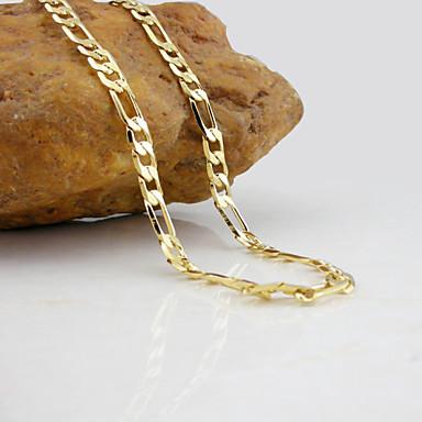 olcso Nyakláncok-Nyakláncok Figaro lánc Mariner lánc Divat 18 karátos futtatott arany Arannyal bevont Sárga arany Aranyozott Ezüst Nyakláncok Ékszerek Kompatibilitás Esküvő Parti Napi Hétköznapi