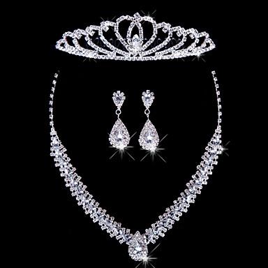 ieftine Seturi de Bijuterii-Pentru femei Argintiu Seturi de bijuterii cercei Bijuterii Pentru Nuntă Petrecere Ocazie specială Aniversare Zi de Naștere Logodnă / Cadou