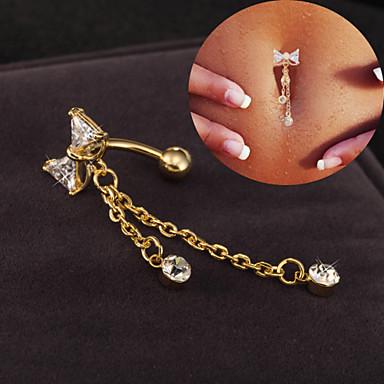 ieftine Bijuterii de Corp-Inel inelar / Piercing pe burta femei Design Unic Petrecere Pentru femei Bijuterii de corp Pentru Cadouri de Crăciun Casual Teak Aliaj Mov Roz Alb 1set
